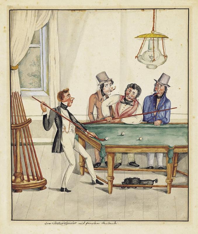 """Poster """"Der Billiard Spieler"""""""