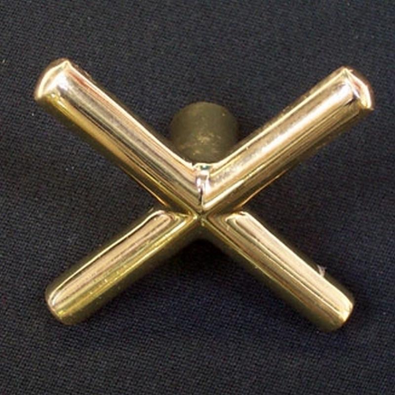 Koperen brug - model kruis - zonder dopjes
