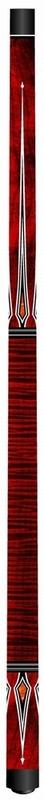 Biljartkeu Artemis Mister 100 curly maple rood