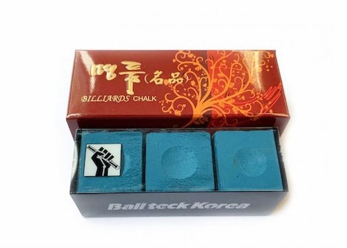 Biljartkrijt Ball Teck Korea  (doosje 3 stuks)