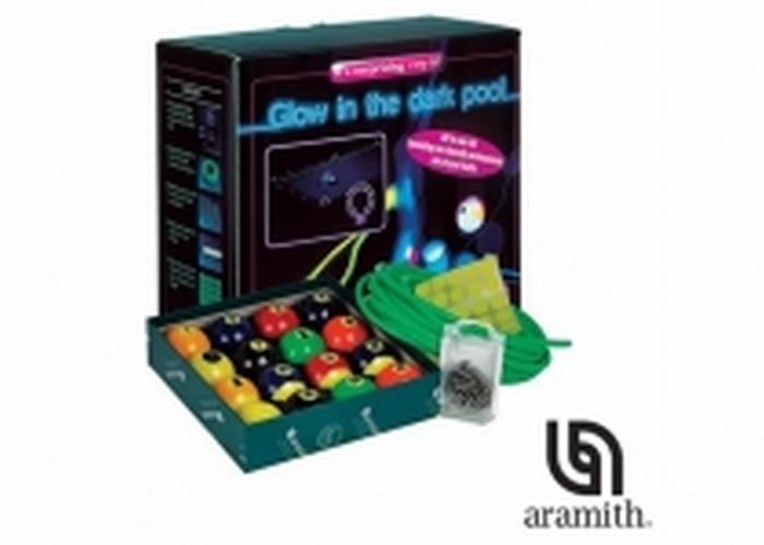 Poolballen Aramith Glow in the dark kit 57,2 mm