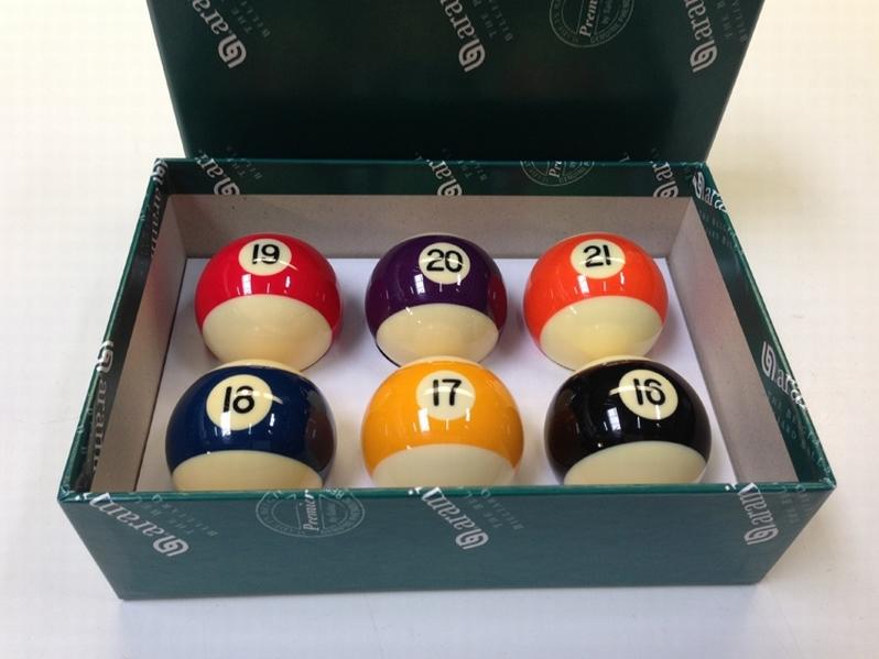 Poolballen Aramith Baseball 57,2 mm nr.16-21