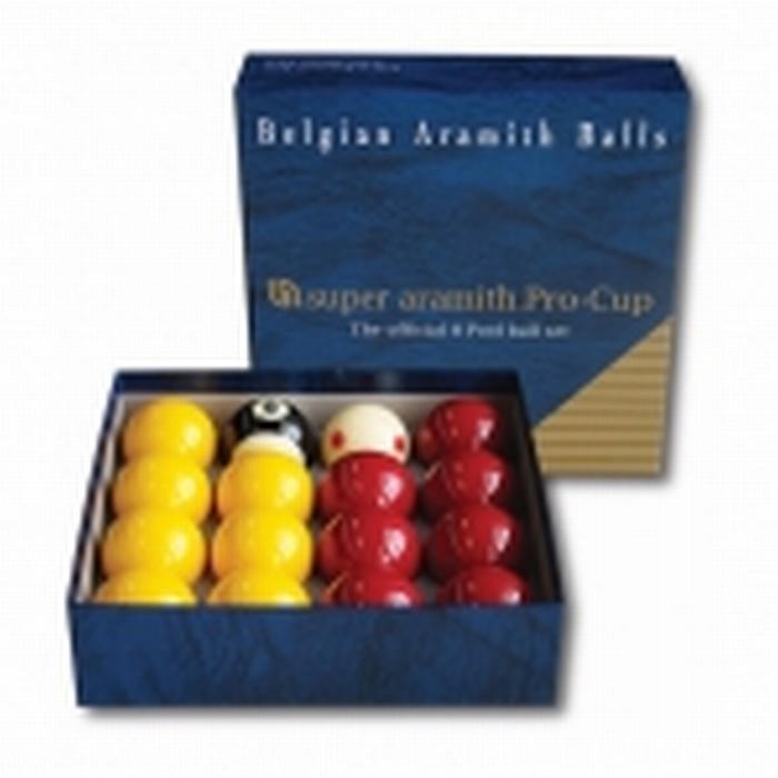 Poolballen Super Aramith ProCup 8 Pool 50,8 mm