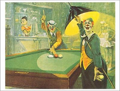 "Biljartposter ""Clown"" Bernard Leemker"