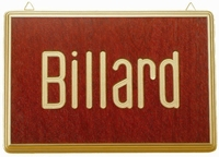 Wandbord motief Billard