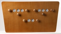 Biljart Scorebord model vlinder